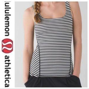 💕SALE💕 Lululemon Black/White Striped Amala Tank